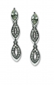 Marquise Cut Crystal Earrings