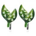 May Lily of the Valley Small Clip-on Earrings