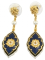 Medieval Floral Azure Earrings