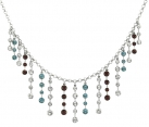Multi-Coloured Crystal Fringe Tiara Necklace