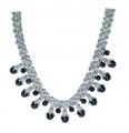 Multiple Grey Faux Pearl Collar