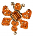 Orange Beetle Bug Pin