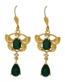 Orchid Delight Green Earrings