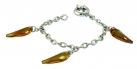 Origins Amber Crystal Claw Bracelet