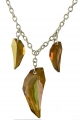 Origins Amber Crystal Claw Necklace
