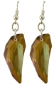 Origins amber crystal claw earrings