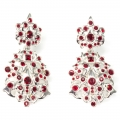 Ornate jewelled earrings