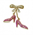 Pink Shoe Charm Brooch