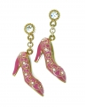 Pink shoes charm earrings