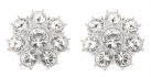 Queen Elizabeth II Floret Clip On Earrings
