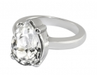 Queen Victoria's Clear Crystal Collet Drop Ring
