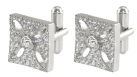 Queen Victoria's Diamond Crown Cross Cufflinks