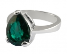 Queen Victoria's Emerald Crystal Collet Drop Ring