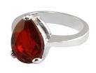 Queen Victoria's Ruby Crystal Collet Drop Ring