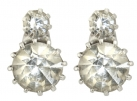 Queen Victoria's Two Stone Stud Earrings
