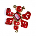 Red Beetle Bug Pin
