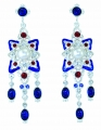 Renaissance Revival Blue Earrings