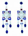 Renaissance Revival Blue Earrings