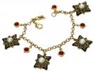 Renaissance Revival Charm Bracelet