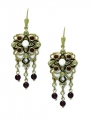 Renaissance Revival Gem Earrings 9ct Gold