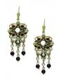 Renaissance Revival Gem Earrings 9ct Gold