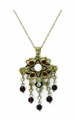 Renaissance Revival Gem Pendant and Brooch 9ct Gold