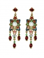 Renaissance Revival Red Earrings