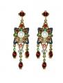 Renaissance Revival Red Earrings