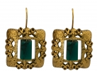 Roman-Style Square Earrings