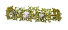 Rose-Cut Jewelled Gold-plated bracelet