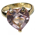 Rose Heart Gold Plated Ring- Medium