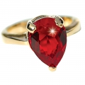 Ruby Pearl Drop ring