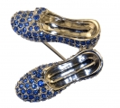 Sapphire Slippers Brooch