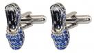 Sapphire Slippers Cufflinks