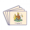 Set of 4 Diamond Jubilee Coat of Arms Placemats
