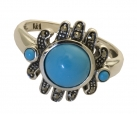 Silver Art Deco Turquoise Ring