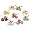 Small Pearl earrings Multi- coloured