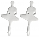 Sterling Silver Ballerina Releve Earrings