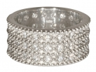 Triple Band from George IV Diadem Ring - Rhodium plated with SWAROVSKI