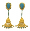 Turquoise Tassle Earrings