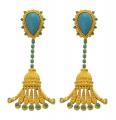 Turquoise Tassle Earrings