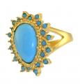 Turquoise Tassle Ring