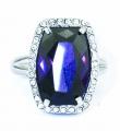 Violet Crystal Ring