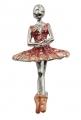 Violet Enamel Releve Ballerina Brooch