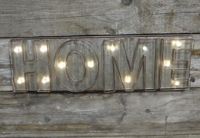 Illuminated HOMEwall sign