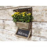 Small Wall Planter with Chalkboard