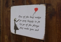 You Make Me Sad - Banksy Sign