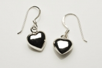 3D heart drop earrings