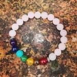 Beaded Chakra Semi Precious Stones Bracelet
