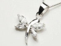 Crystal dragonfly pendant